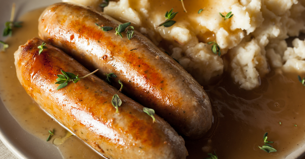 A triple variety sausage dish to make an Irishman proud